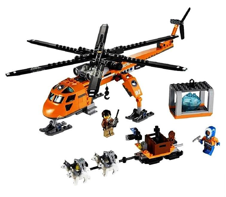 BELA 10439 273pcs City Arctic Helicrane Helicopter Husky Building Block Model Sets Toys For Children Compatible With LegosBELA 10439 273pcs City Arctic Helicrane Helicopter Husky Building Block Model Sets Toys For Children Compatible With Legos