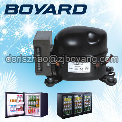 Zhejiang boyard R134A 12v 24v bldc refrigerator compressor QDZH35G for portable freezer made in china boyard 12 24v compressor of portable air conditioner for cars portable freezer portable drink cooler