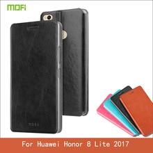 Mofi Для Huawei Honor 8 Lite 2017 Случай Флип ИСКУССТВЕННАЯ Кожа стенд Телефон Случаях Обложка Для Huawei Honor 8 Lite 2017 Книга стиль