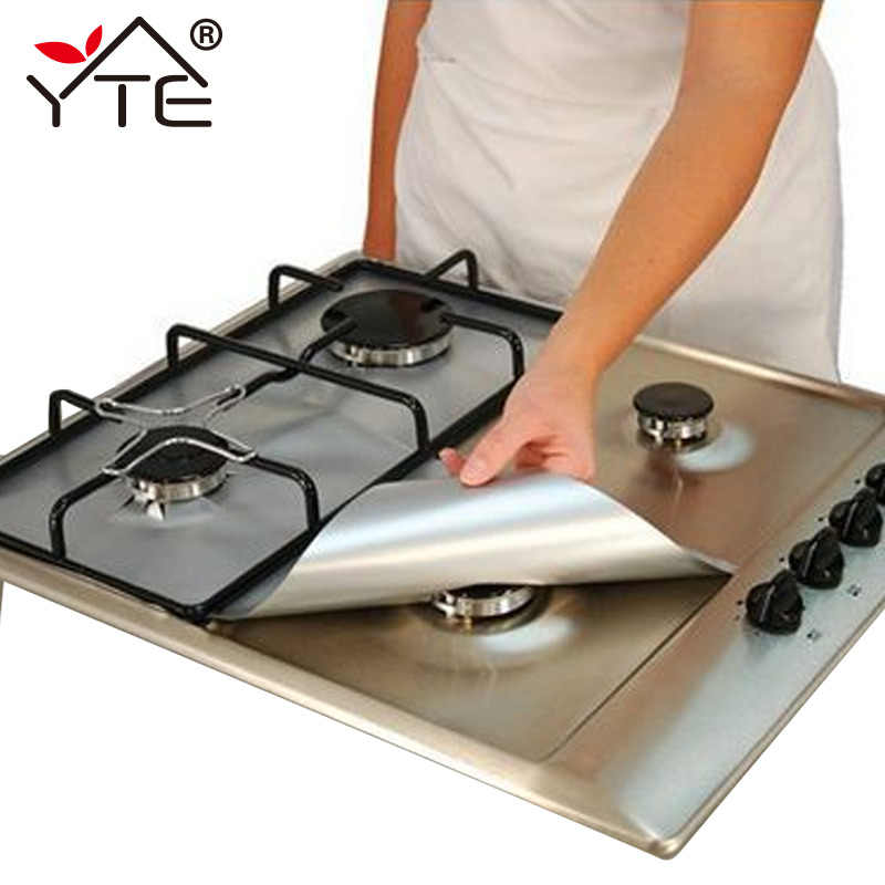 YTE 2pcs Gas Stove Protectors Reusable Gas Stove Burner Cover Liner Mat Fire Injuries Protection Trivets Kitchen Specialty Tools