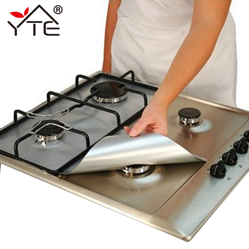 YTE Gas Stove Protectors 1pc Reusable Gas Stove Burner Cover Liner Mat Fire Injuries Protection Trivets Kitchen Specialty Tools