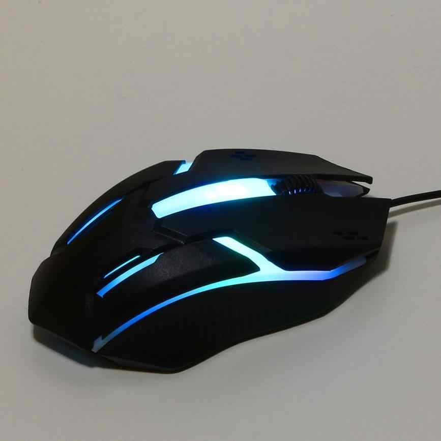 Binmer    1200 DPI USB  Wired   Mouse  LED   Optical Gaming Compute  Top Brand  Mini Mice   For PC Laptop  18AUG7