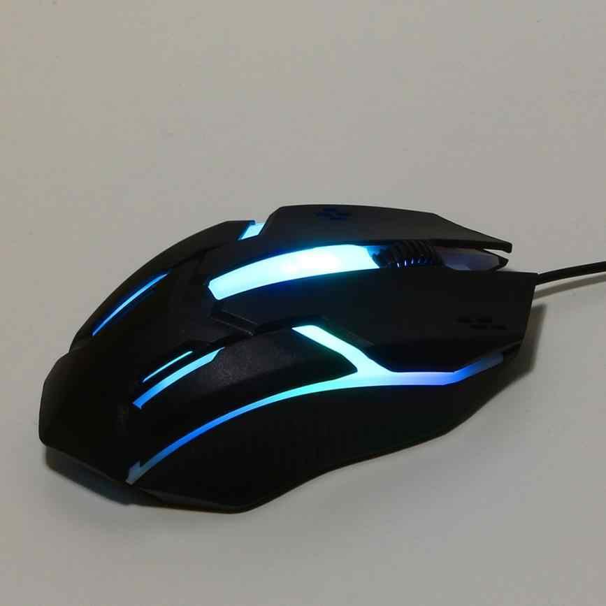 Binmer 1200 dpi USB 有線マウス LED 光学計算トップブランドミニラップトップ Pc 用 18AUG7