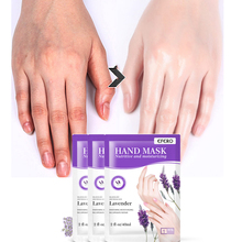 2Pair Whitening Moisturizing Hand Mask Anti-Aging Smooth for Peel off Lavender Extract Exfoliating Calluses Nutritive Masks