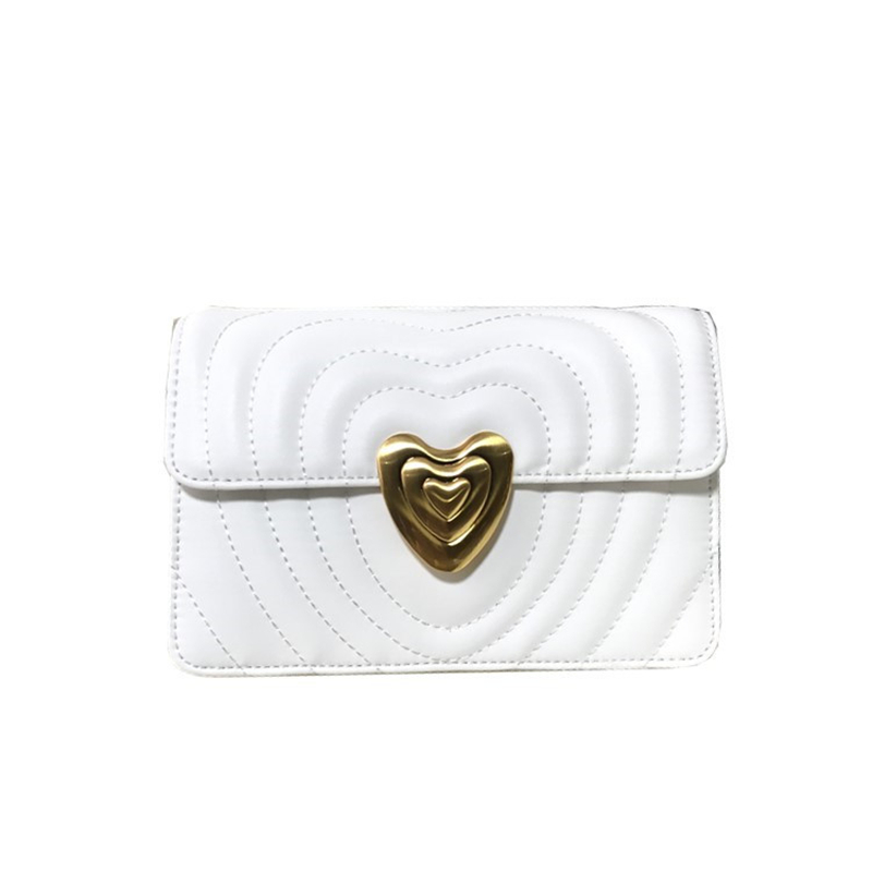 2019 New Fashion Solid Color Heart-shaped Chain Shoulder Bags Genuine Leather Handbags Wave Pattern Design Louis Messenger Bags2019 New Fashion Solid Color Heart-shaped Chain Shoulder Bags Genuine Leather Handbags Wave Pattern Design Louis Messenger Bags