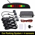 Car LED Parking Sensor Monitor Auto Reverse Backup Radar Detector System + Backlight Display + 4 Sensors Free Shipping Wholesale