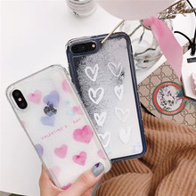 Dynamic liquid quicksand snowflake love phone case For iphone XS MAX XR X 6 6s 7 8plus cute soft plastic back cover