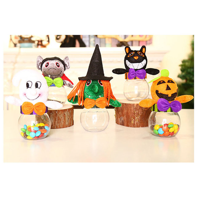 Halloween Candy Container Kids Christmas Pumpkin Plastic Candy