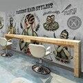 3D personalized custom wallpaper vintage barber shop hair salon makeup shop coffee shop themed restaurants large mural wallpaper
