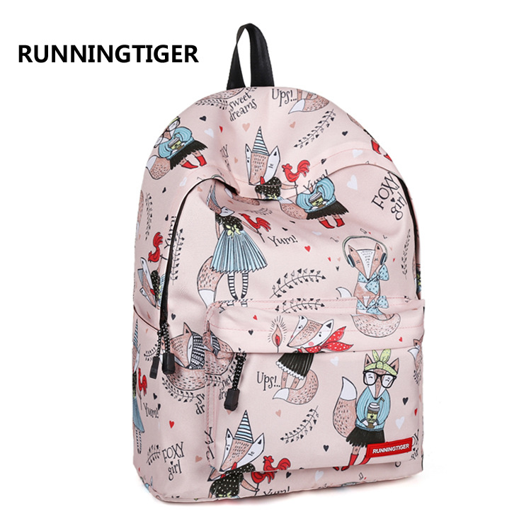 b32140472b3a US $19.92 40% OFF|School Backpack For Girls Fox College Bookbags For Women  Travel Laptop Backpack Teen Backpacks Classic Water Resistant Daypack-in ...
