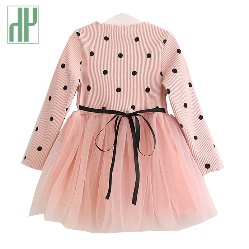 Little girls dresses Spring Autumn Long Sleeves Children Casual School Dress for Girls mini Tutu Dress Kids Party Wear Clothing in Dresses from Mother Kids