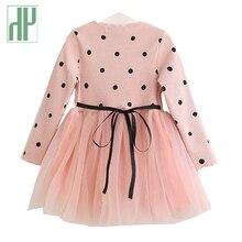 Little girls dresses Spring Autumn Long Sleeves Children Casual School Dress for Girls mini Tutu Kids Party Wear Clothing