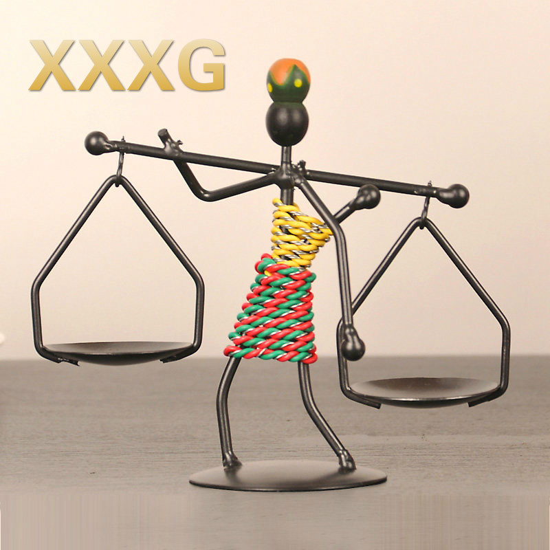 XXXG / /creative household adornment, wrought iron candlestick, candle light dinner table small place European contracted candle