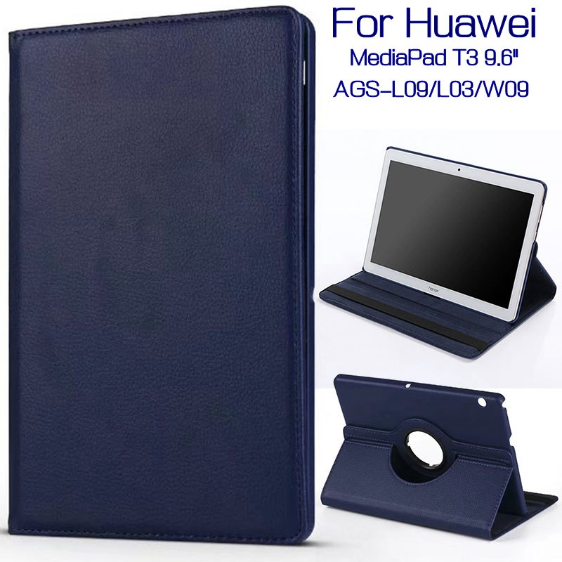 360 Degree Rotating Case For Huawei Mediapad T3 10 Honor Play Pad 2 AGS-L09/L03/W09 9.6