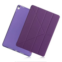 PU Leather Silicone Transformers Case For iPad air 1 air 2 A1474 A1566 Ultra Slim Smart Soft Back Cover for iPad 5 iPad 6 case for ipad pro 10 5 esr pu leather translucent back hybrid soft bumper corner slim smart cover case for ipad pro 10 5 inches
