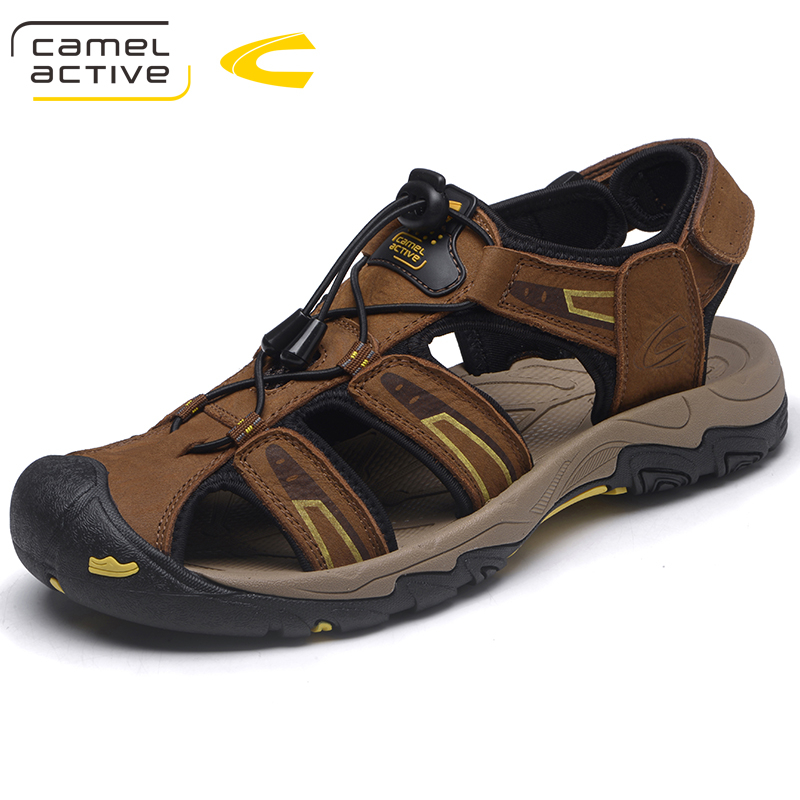 Camel Active Hot Sale New Fashion Summer Leisure Beach Men Shoes High Quality Leather Sandals The Big Yards Men's Sandals 18132 anmairon shallow leisure striped sandals women flats shoes new big size34 43 pu free shipping fashion hot sale platform sandals
