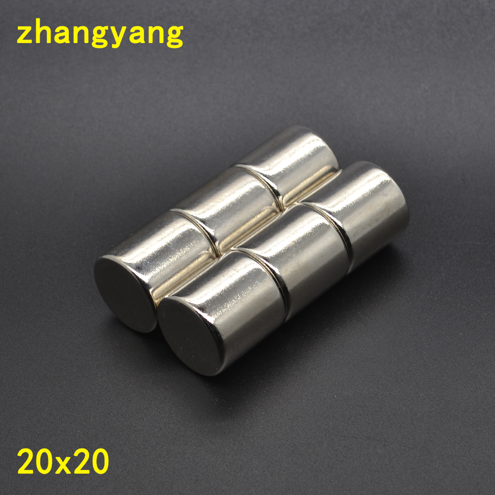 1pc 20x20 Super Strong Cylinder Round Magnets D20mm x 20mm 20*20 Rare Earth Neodymium Magnet N50 20*20mm