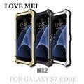 Mk2 para samsung s7 edge g9350 poderoso amor mei metal alumínio telefone de volta caso capa para o samsung galaxy s7 edge casos à prova de choque