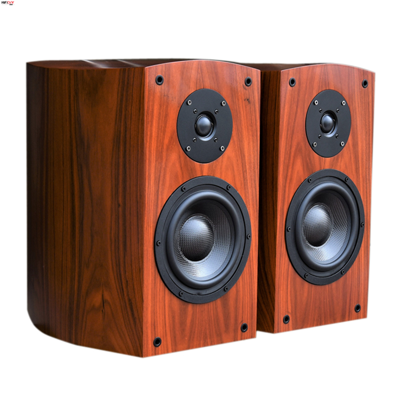 HIFIDIY audio 6.5 inch high-end collection sour wood veneer curved bookshelf 2.0 passive T6 speaker S-606TTHIFIDIY audio 6.5 inch high-end collection sour wood veneer curved bookshelf 2.0 passive T6 speaker S-606TT
