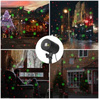 Holiday Lighting Christmas snowflake projector lighting Rain and snow effect Outdoor led lawn light Waterproof for Garden
