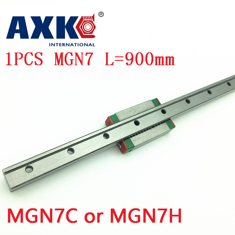 For 7mm Linear Guide Mgn7 L= 900mm Linear Rail Way + Mgn7c Or Mgn7h Long Linear Carriage For Cnc X Y Z Axis thk interchangeable linear guide 1pc trh25 l 900mm linear rail 2pcs trh25b linear carriage blocks