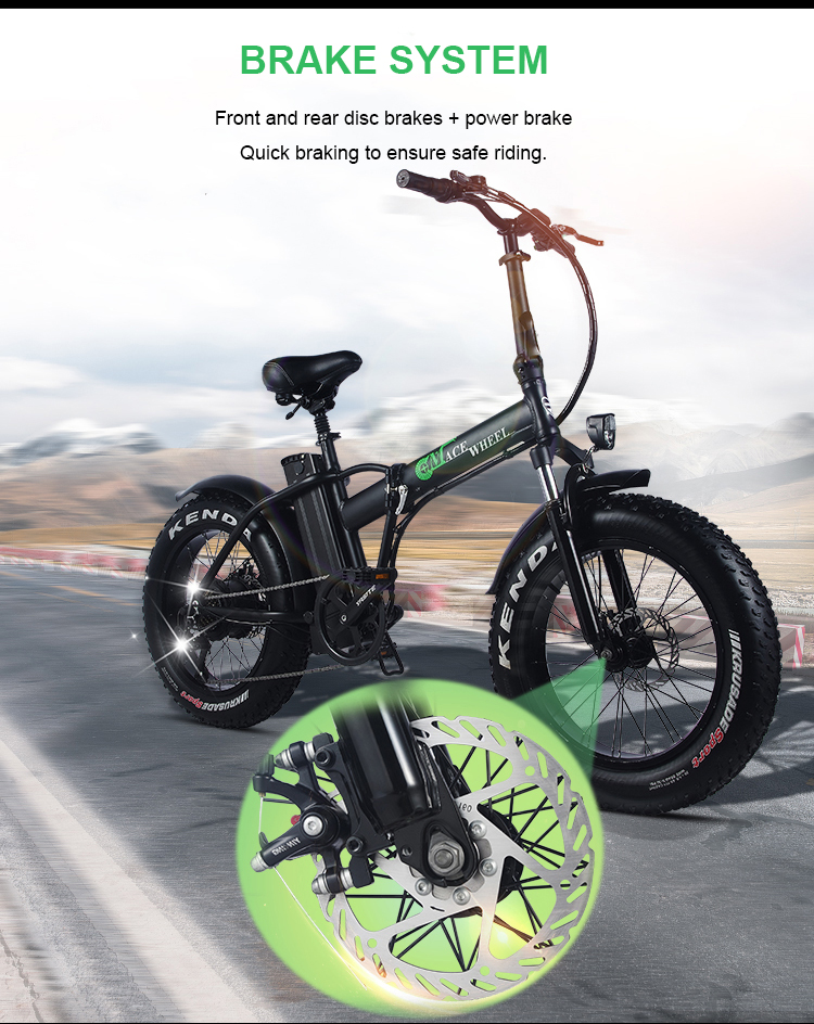 HTB1zR5caizxK1Rjy1zkq6yHrVXar - 20inch electric mountian bicycle 48V 15ah lithium battery 500w rear wheel motor max speed 40km/h range 50-60km snow fat