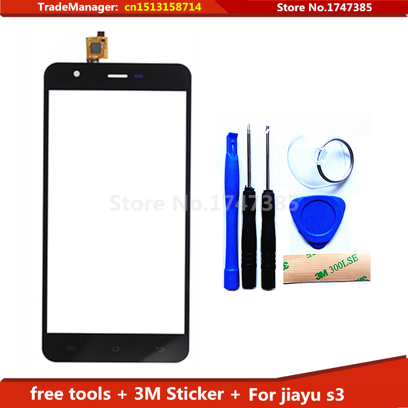 Tools 3M Sticker 100 Original Touch Screen For jiayu s3 sensor digitizer Replacement Assemble Black white