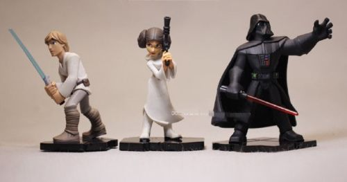 Star Wars Action Figure Darth Vader Luke Skywalker Princess Leia Jedi Lot 3 Set Anime Figure Collectible Model Toy