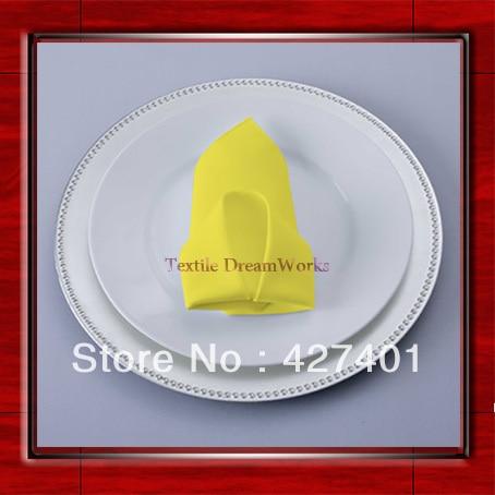 High Quality 45x45cm Neon Yellow Polyester Plain Napkin / Table Napkin / Hotel Napkin / Dinner Napkin (Factory Direct Sale)