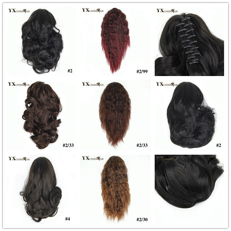 Yxcherishair 10 Claw Clip In Hair Ponytails Synthetic Kinky Curly