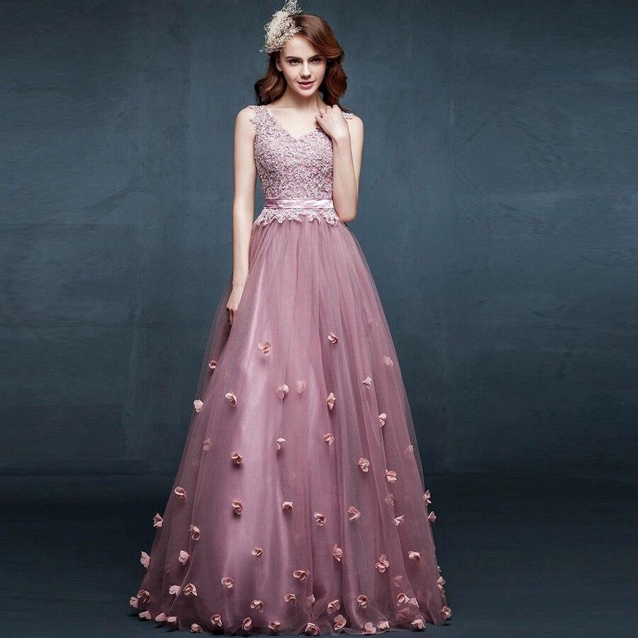 BIXIZHIRAN Appliques V-Neck Tank Fashion Luxury Hot Sale Formal Prom   Evening     Dresses