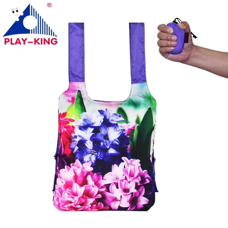 PLAYKING Man Travel Bag Waterproof Backpack Women Bag Backpack Folding Printing Unisex Ultralight Bag Nylon Traveling In Bag