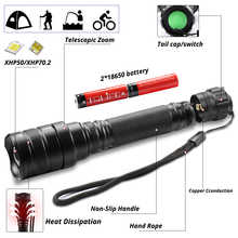 7000Lms LED Flashlight xhp70.2 Ultra Bright Waterproof linterna led Torch xhp70 xhp50 18650 Best Camping, Bicycle light,Outdoor