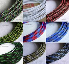 4mm Breed TIGHT Gevlochten PET Expandable Sleeving Kabel Draad Schede Zwart/Zilver/Goud/Rood/Oranje /geel/Groen/Blauw/Wit/Clear(China)