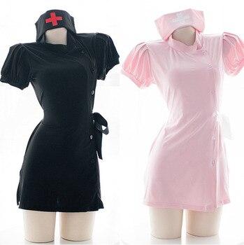 Women Sexy Costume Nurse Girl Uniform Set Apparel Role Play Cosplay Uniform