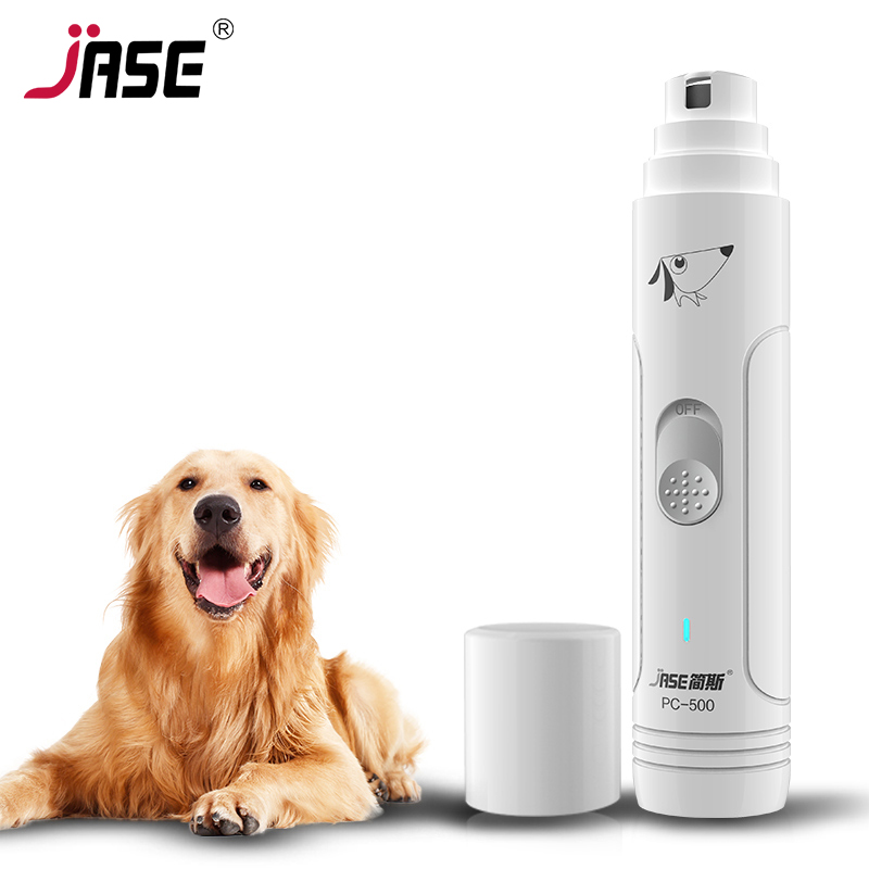 Jase Electric Pet Nail Grinder Auto Cat Dog Nail Grooming File Professional Paws Grinder Clipper Trimmer Pet Nail Care Tool