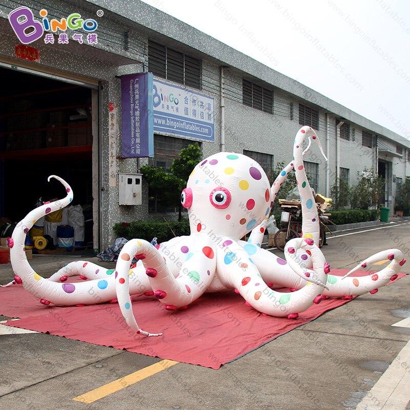 Grand ballon gonflable coloré de pieuvre de l'événement 6 m de thème marin/océan pour la décoration-jouet gonflable