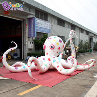 Marine/Ocean theme event 6m big Inflatable colorful octopus balloon For Decoration  inflatable toy Inflatable Bouncers    -