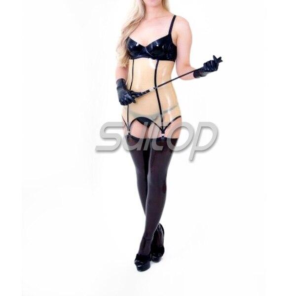 Couleur noire en caoutchouc tenue décontractée transparente sexy latex robes et chemises exotiques