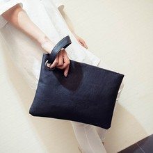 Women's Leather Envelope Clutch Evening Bag