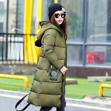 new 2016 fashion hooded thickening down jacket female medium-long winter coat women slim parka ladie plus size women's outerwear