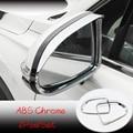 ABS хром для Hyundai Santa FE 2018 2019 автомобильные зеркала заднего вида  чехлы для дождя и бровей  внешние автомобильные аксессуары  2 шт.