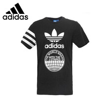 ADIDAS Original New Arrival Mens T-shirt Short Sleeve Breathable Pattern Printed Spring&Summer For Men
