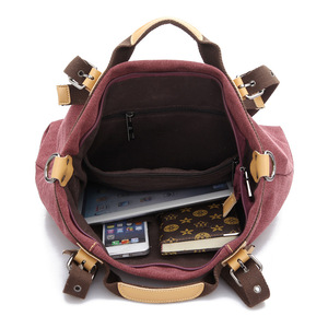 Image 5 - Kvky 春の新作秋のキャンバス女性のバッグハンドバッグメッセンジャーバッグレディース hig 品質ショルダーバッグ有名なブランドクロスボディバッグボルサ