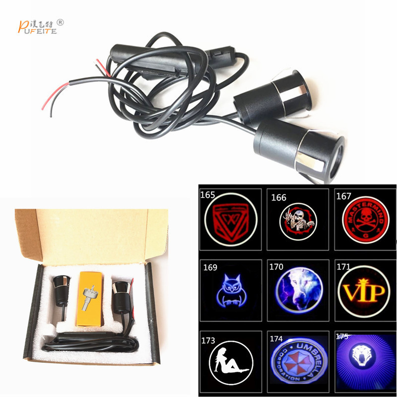 2/pcs car led welcome door projection lamp for Lifan door for 320 520 620 720 820 X50 X60 330 530 Car styling car light high quality car seat covers for lifan x60 x50 320 330 520 620 630 720 black red beige gray purple car accessories auto styling