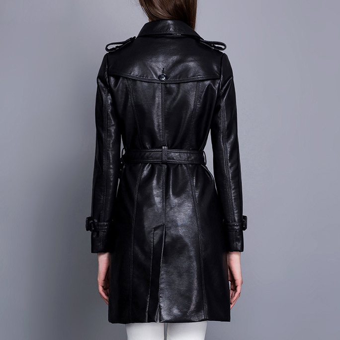 2018 De Manteau Tendance Chaud Outwear Gratuite En Black Veste vent Noir Mode Femmes Cuir Pu Livraison Coupe Nouvelles r7fxPr