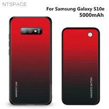 NTSPACE Wireless Magnetic Battery Charging Case For Samsung Galaxy S10e 5000mAh Backup Power Bank Back Clip Charger