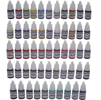 54pcs tattoo ink kit pigments permanent makeup 10ml/bottle cosmetic manual body painting supply