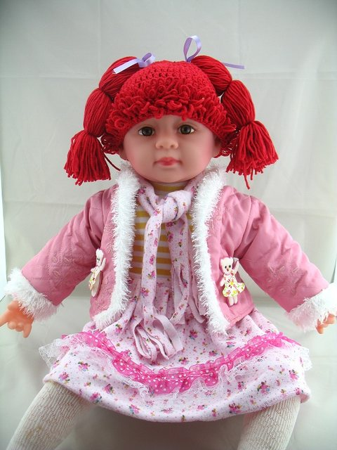 Online Shop Free Shipping Baby Wig Hat Crochet Cabbage Patch Kid