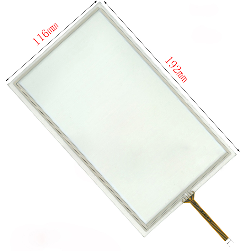 4 Wire Resistive 8 Inch Touch Screen Panel For HSD080IDW1 AT080TN64 192*116